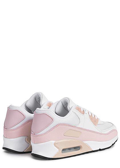Seventyseven Lifestyle Damen Schuh 2-Tone Sneaker weiss rosa aprikot
