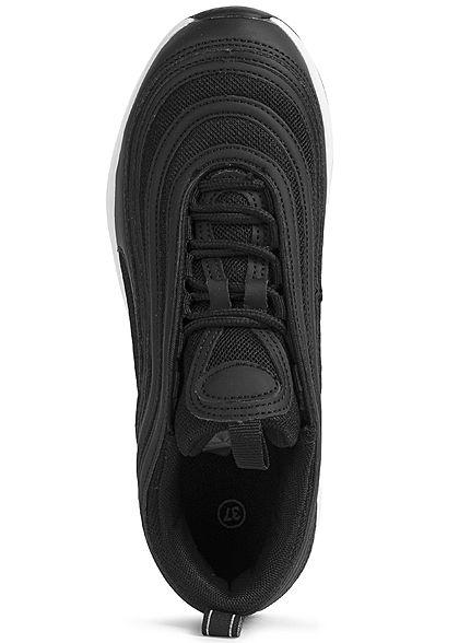 Seventyseven Lifestyle Damen Schuh Materialmix Sneaker mit Meshdetails schwarz
