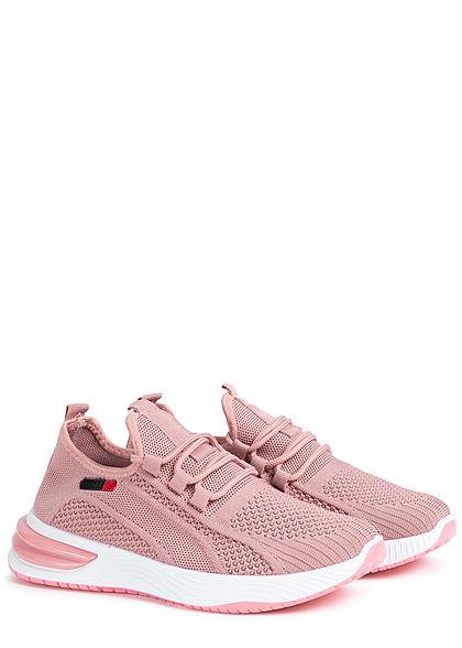 Seventyseven Lifestyle Damen Schuh Running Sneaker zum schnüren dunkel rosa pink