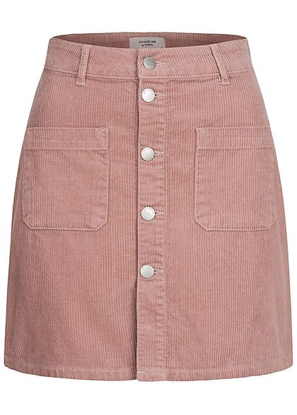JDY by ONLY Dames Mini Koordrok met knoopsluiting 2-pocket woodrose smoke pink - Art.-Nr.: 21010161