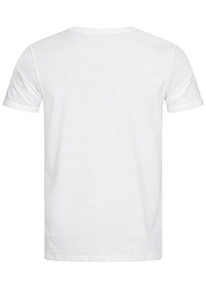 Sublevel Herren BBQ T-Shirt Burger Frontprint weiss