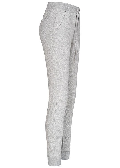 TALLY WEiJL Dames Basic Sweat Joggers Broek 3-Pockets gris chine lichtgrijs