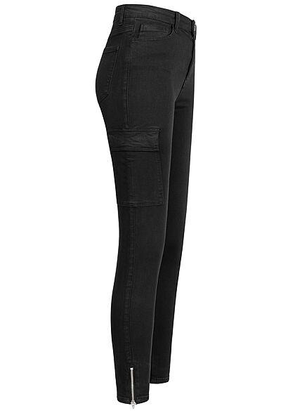TALLY WEiJL Dames Skinny Cargo Jeans zwart denim