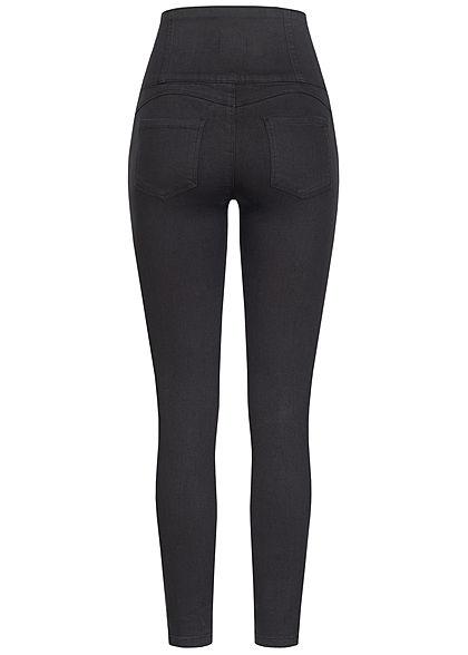TALLY WEiJL Dames Super High-Waist Skinny Jeans zwart denim