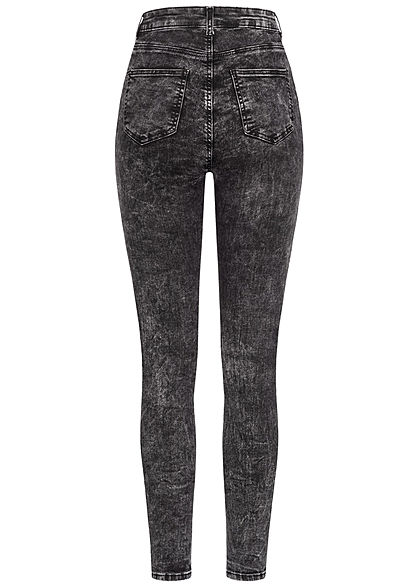 TALLY WEiJL Dames Ankle Skinny High-Waist Jeans acid zwart
