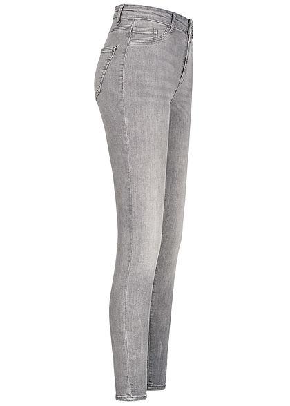 TALLY WEiJL Dames Ankle Skinny High-Waist Jeans grijs denim