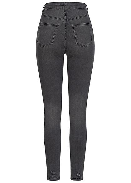 TALLY WEiJL Dames Ankle Skinny High-Waist Jeans used zwart denim
