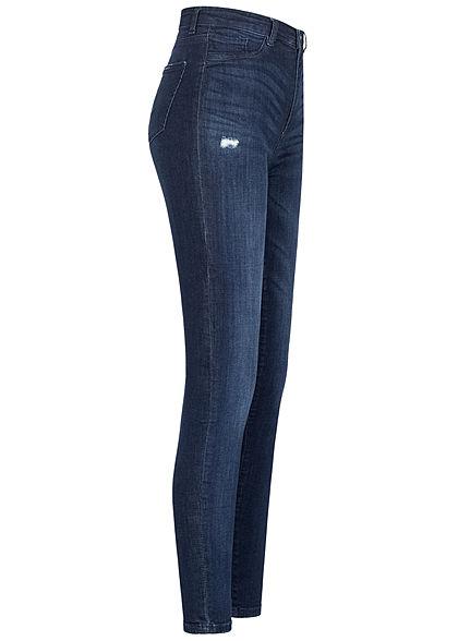 TALLY WEiJL Dames High-Waist Skinny Jeans Destroy Look rinse indigo
