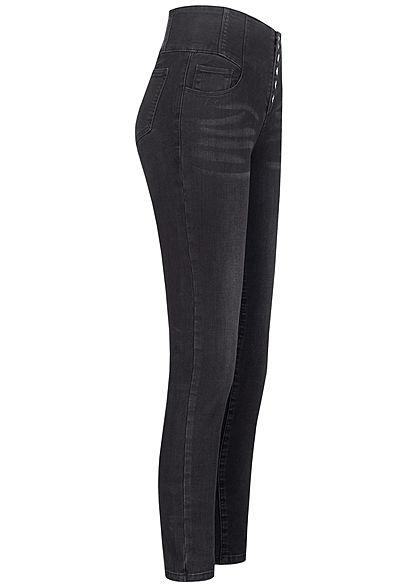 TALLY WEiJL Dames High-Waist Skinny Jeans zwart denim
