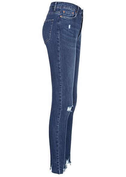 TALLY WEiJL Dames High-Waist Skinny Jeans Destroy Look denim blauw