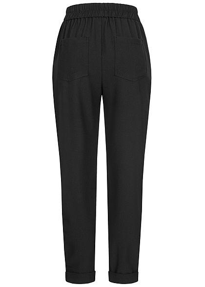 TALLY WEiJL Dames 3/4 Slouchy Broek 4-Pockets High-Waist zwart