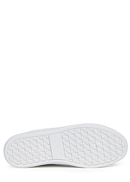 Hailys Dames Schoen Sneaker 2-Tone Velours Look wit beige