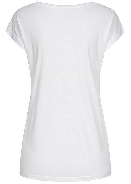 Sublevel Dames T-Shirt Believe Print wit