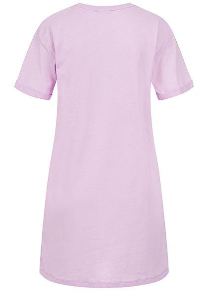Sublevel Dames Longform T-Shirt Woman Print tender purper