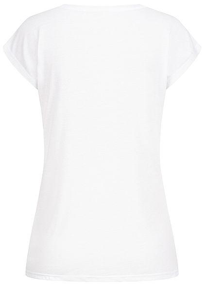 Seventyseven Lifestyle Dames T-Shirt Enjoy-Live Print wit