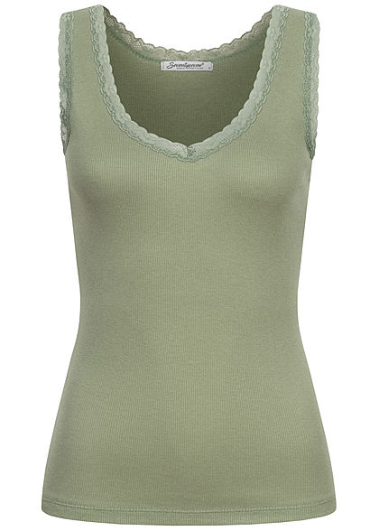 Seventyseven Lifestyle Dames Basic Tank Top wit - Art.-Nr.: 21039007