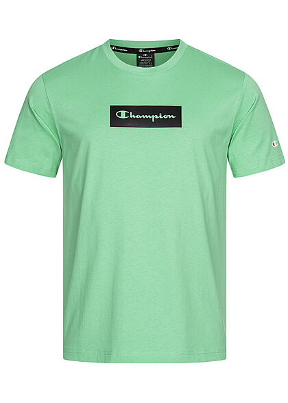 Champion Heren T-Shirt Logo Print groen - Art.-Nr.: 21041864