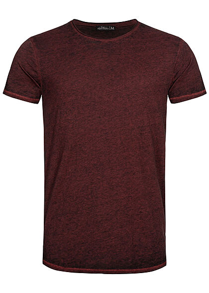 Urban Surface Heren Melange T-Shirt bordeaux rood - Art.-Nr.: 21041961