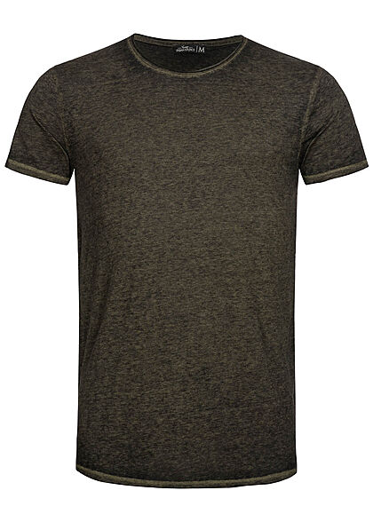 Urban Surface Heren Melange T-Shirt ivy olive groen - Art.-Nr.: 21041962