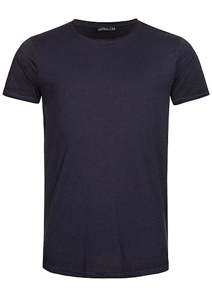 Urban Surface Heren Melange T-Shirt donker navy blauw - Art.-Nr.: 21041963