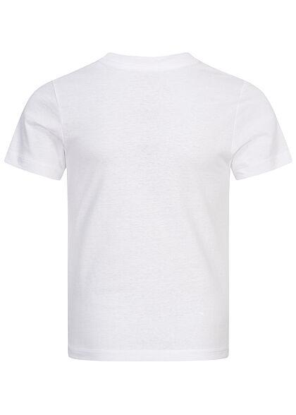 Jack and Jones Junior T-Shirt Logo Print weiss blau