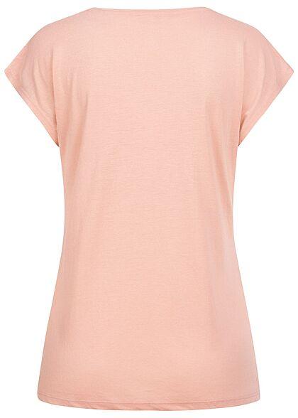 Hailys Dames T-Shirt Forever Love Herfstprint met Pailletten roze paars goud